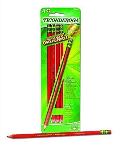 Wholesale CASE of 25 - Dixon Ticonderoga Erasable Colored Pencils-Erasable Colored Pencils, 4/CD, Red