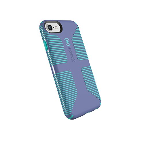Speck Products CandyShell Grip Cell Phone Case for iPhone 8/7/6S/6 - Wisteria Purple/Mykonos Blue ()