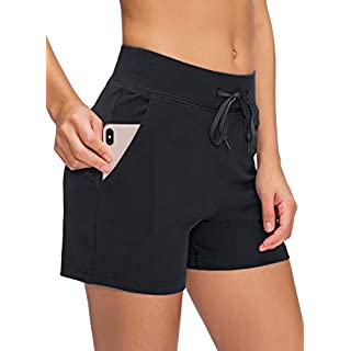 PAIZH Yoga Lounge Shorts for Women Gym Workout Running Biker Shorts with Pockets