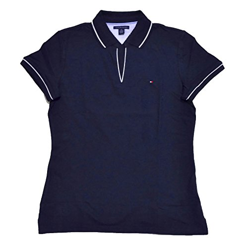 Tommy Hilfiger Women's Solid Emma Polo, New Masters Navy, Small