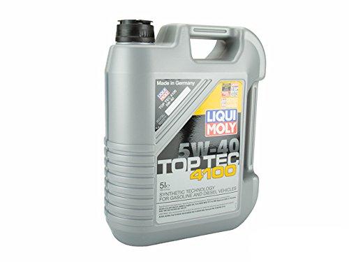 Liquimoly 2330 5W-40 Top Tec 4100 Motor Oil, 5 L, 4 Pack by Liqui Moly
