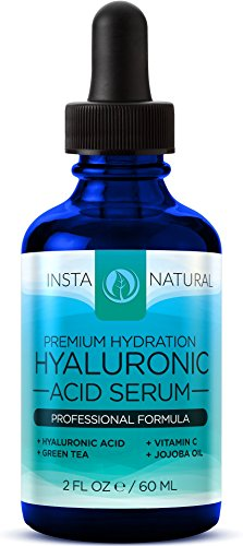 Hyaluronic Acid Serum - BEST Anti-Aging Skin Care Product for Face With Vitamin C Serum Vitamin E & Green Tea - Reduces Wrinkles Fine Lines & More - For Youthful & Radiant Skin - InstaNatural - 2 OZ