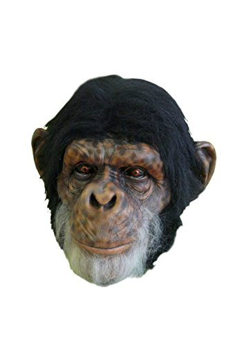 Chimp Ape Monkey Animal Latex Adult Halloween Costume Mask (Chimp Costume)