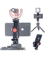 ULANZI ST-06 Supporto per treppiede per telefono con scarpa calda con rotazione a 360 ° con slitta a freddo per supporto per microfono compatibile con fotocamera Nikon Sony DSLR
