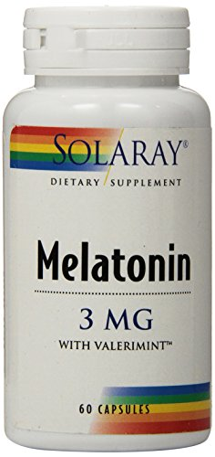 Solaray Melatonin-3 with Valerimint Supplement, 3 mg, 60 Count