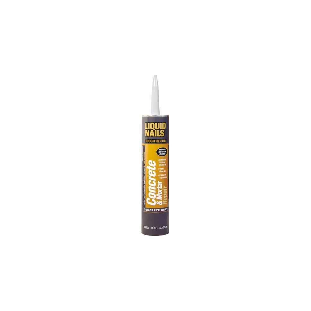 Amazon.com: Liquid Nails CR 805 10.3 Oz Concrete Mortar Repair Cartridge (2  Pack): Home Improvement