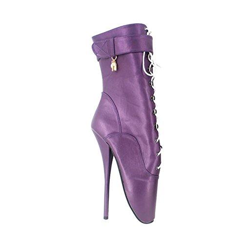 Lock Dorado Con Tacon Fetiche Tacón Alto Para Aguja De Botas Cosy Zapatos Purple Mujer Hebilla l Botines Plataforma Cremallera qXPpwnxYZ