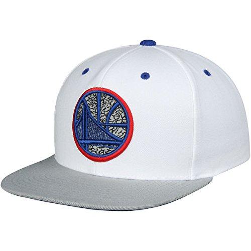 NBA Mitchell & Ness BB Team Logo Adjustable Snapback Hat (Adjustable, Golden State Warriors)