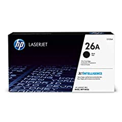HP 26A (CF226A) Black Toner Cartridge for HP LaserJet Pro M402 M426. HP 26A (CF226A) toner cartridges work with: HP LaserJet Pro M402, M426. Original HP toner cartridges produce an average of 71% more usable pages than non-HP cartridges. Cart...
