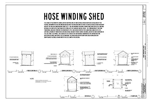 Floor Repair Section - Structural Drawing Elevations, Section & Floor Plan - Cedar City Automotive Repair Shop, Hose Winding Shed, 820 North Main Street, Cedar City, Iron County, UT 66in x 44in