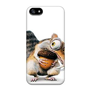 Rugged Skin Cases Covers For Iphone 5/5s- Eco-friendly Packaging(ice Age)