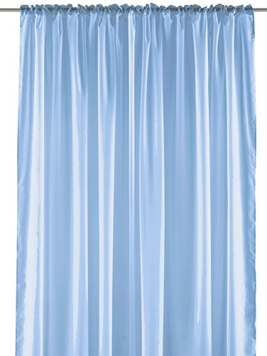 (Pastel Sheer Curtain Panel - Elegant Window Long Panel, Beautiful See Through Drapery Panel, Home Décor Window Curtain with Hanging Rod Pocket - 55