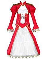 Fate Stay Night Cosplay Costume - Red Saber Swordsman Outfit 2nd X-Small