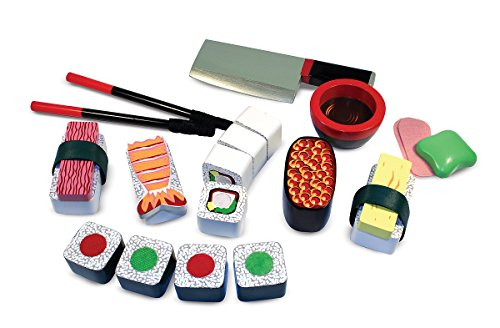 Sushi Wood (Melissa & Doug Sushi Slicing Wooden Play Food Set)