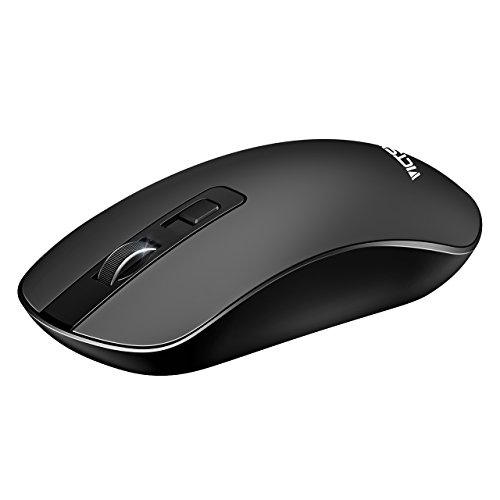 VicTsing 4-Button Slim Silent Wireless Mouse,3 Adjustable CPI Levels,Silent Click with USB Nano Receiver and ON-OFF Switch for PC, Laptop, Computer and (Off Click Switch)