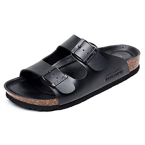 coppie nuova EU39 da alle 5 Estate resistenti scarpe UK6 UK7 nero uomini size elegante donne LISABOBO e CN41 CN40 EU40 pantofole cool spiaggia confortevole le wUxEXz