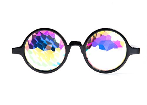 Premium Kaleidoscope Glasses - Perfect for Raves Festivals and Concerts - Rainbow Rave Prism Diffraction Sunglasses- Kaleidoscope