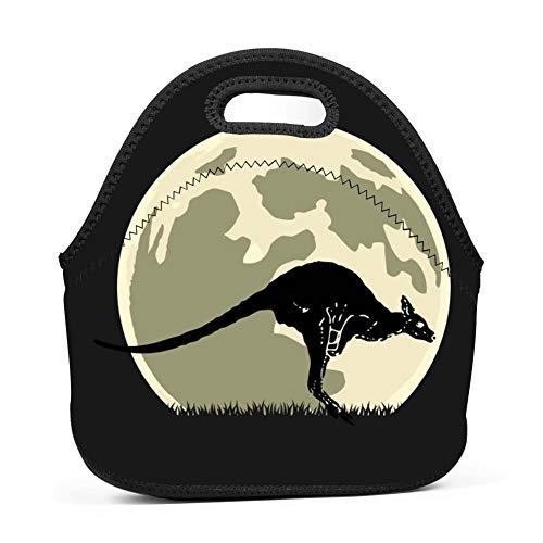 Kangaroo Cute Halloween Lunch Bag Waterproof Bento Tote Bag Storage Bag with Zipper for Children Adult ()