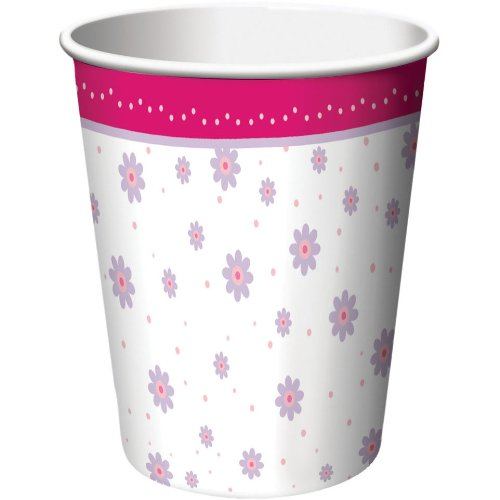 8-Count 9-Ounce Hot/Cold Paper Beverage Cups, Tutu Much Fun
