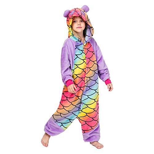 RONGTAI Kids Unisex Animal Flannel Panda Onesie Pajamas Cosplay Costume(115#(51