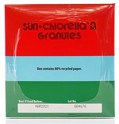 SUN CHLORELLA Chlorella Supplement Granules - Vegan-Friendly Superfood Supplement Enriched with Vitamin A, D, B2, B6 & Omega-3 and Omega-6 (3g - 100 Packets) by Sun Chlorella (Image #1)