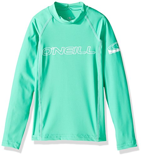 O'Neill Wetsuits UV Sun Protection Youth Basic Skins Long Sleeve Crew Sun Shirt Rash Guard