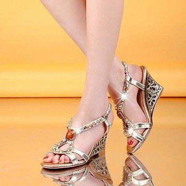 Mujer zapatillas de punta abierta BELLR V sandalias de cuña de zapatos de tacón con más coloures disponibles Dorado dorado Talla:US7.5 / EU38 / UK5.5 / CN38 Dorado - dorado