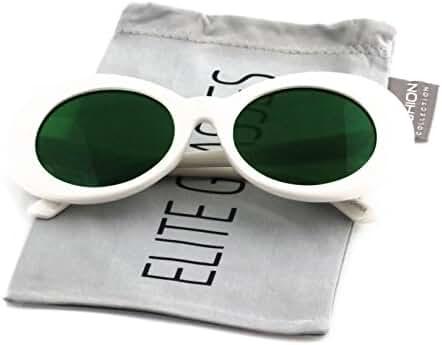 Elite NIRVANA Kurt Cobain Oval Bold Vintage Sunglasses For Women Men Eyewear