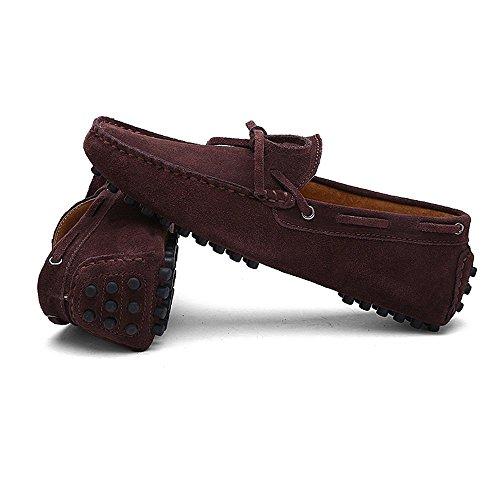guida Mocassini 2018 in 49 vera pelle Mocassini Coffee Scarpe da Dimensione da Uomo uomo shoes leggeri Color EU Da Shufang fgnFqF