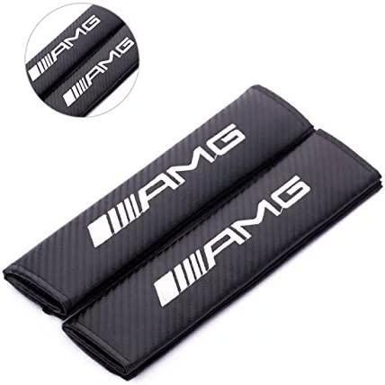 1 pair Amooca Spec-R //////AMG Carbon Fiber Seat Belt Cover Shoulder Pad Cushion