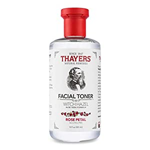 Best Epic Trends 41HEaYr903L._SS300_ THAYERS Alcohol-Free Rose Petal Witch Hazel Facial Toner with Aloe Vera Formula, 12 Ounce