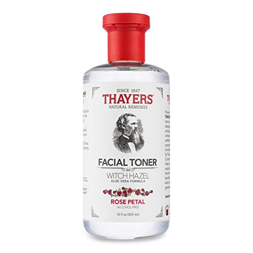 Thayers Alcohol-Free Rose Petal Witch Hazel Facial Toner with Aloe Vera Formula – 12 oz