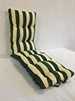 Cojín acolchado de rayas con reposapiés (160x48cmx10cm) - Ideal para uso interior y exterior