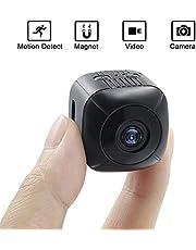 Mini Kamera, UYIKOO Tragbare Mini-Kamera 1920 * 1080 HD Überwachungskamera Unterstützung Bewegungserkennung für Indoor/Outdoor-Sicherheit Nanny-Kamera