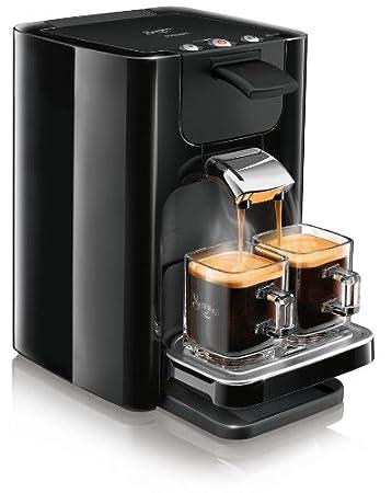 Philips HD7863/60 Senseo Quadrante - Cafetera monodosis, color negro (importada)