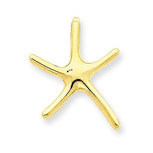 Jewelry Adviser Slides 14k Starfish Chain Slide