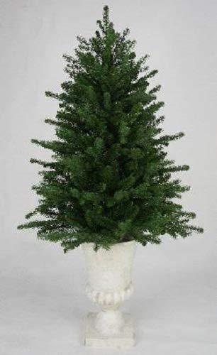 Boston Warehouse Martha Stewart Tabletop Artificial Pre-Lit Christmas Tree in Decorative Urn, 36 Inch, Multicolored Lights