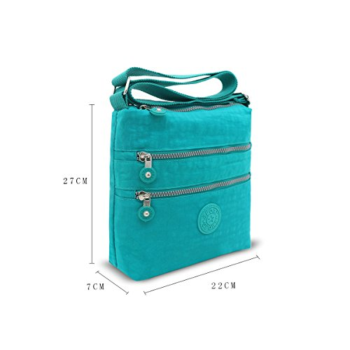 Long Long Messenger Craze Unisex Light bags Ladies Branded Cross Green New Strap Compartment Multi Bag Bags London Body Strap Fabric Zip Messenger PqPwxTOr