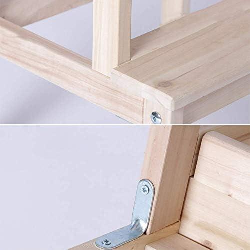 DGNTZCXL Escalera de Madera for el hogar Asamblea sólido multifunción Moderna Minimalistladder heces Simple práctico Moda Largo X Ancho Altura álamo Fabricación (Color : Wood Color): Amazon.es: Hogar