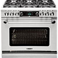 CAPITAL CSB366N 36 Dual Fuel 6 Burner Range NG (Stainless Steel)