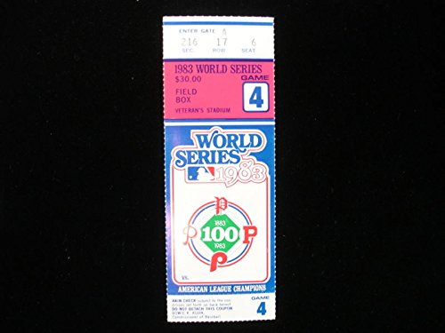 1983 World Series Game #4 Ticket Stub - Orioles vs. Phillies