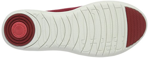 Fitflop F-Sporty Canvas - Bailarinas Mujer Rojo (FF Red)