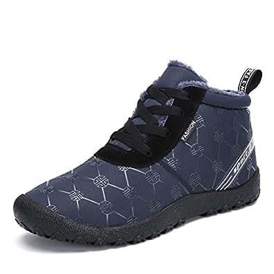 Amazon.com | Voovix Men' Snow Boots Winter Warm Fur Lined