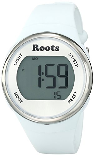 Roots Women's 1R-AT405WH1W Cayley Digital Display Quartz White Watch