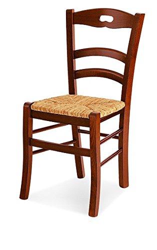Lo Scrigno Arredamenti, 2 Sedie Classiche sedile in paglia 2 Sedie ...