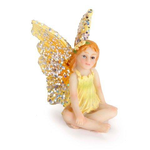 (Bundle - Set of 3 Assorted Mini Resin Meditating Fairy Figures 1.75 x 2.25)