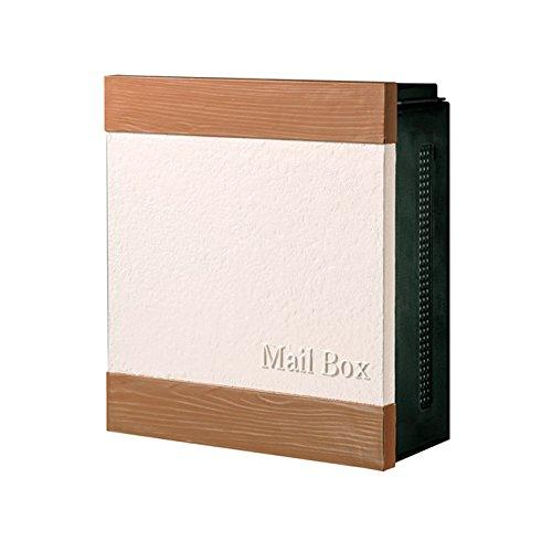 ポスト 郵便受け 郵便ポスト クーリエ ウォール ライトブラウン 左扉 ダイヤル鍵付き B077YXFPN8