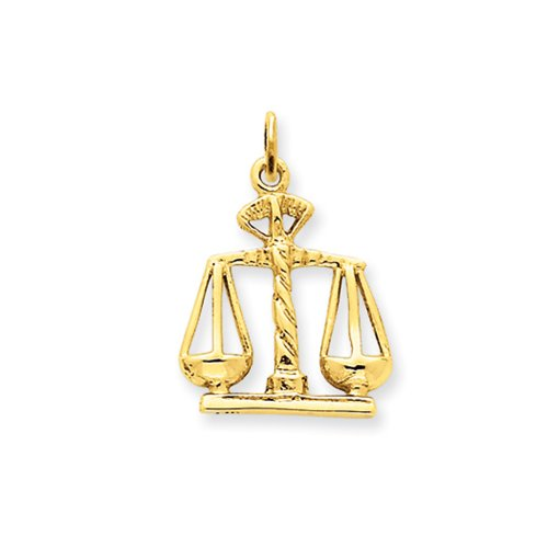 Scales 14k (14k Yellow Gold Scales of Justice Charm)