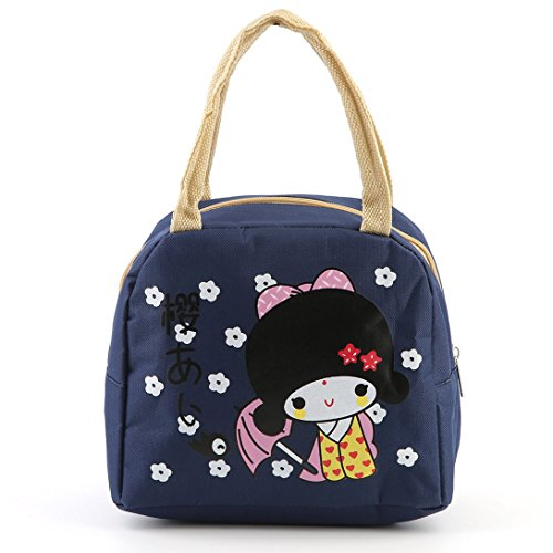Bag Bento Large Swiftswan Insulation Japanese Girl Boxes Portable Bag Lunch Storage qnxBvHFw