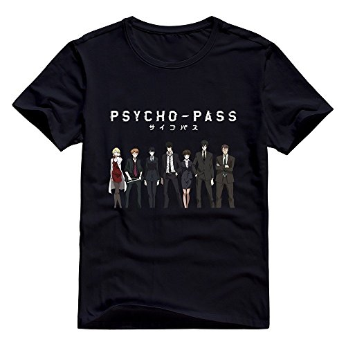 (StaBe Adult Psycho Pass T-Shirt Cotton Vintage Black)